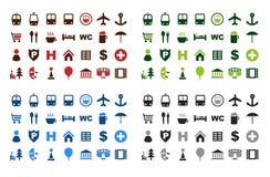 иконы составляют карту комплект Стоковая Фотография