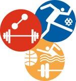Иконы спорта стоковые изображения rf