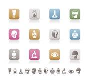 иконы стационара здоровья внимательности медицинские Стоковое фото RF