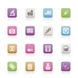 иконы стационара здоровья внимательности медицинские Стоковое Фото