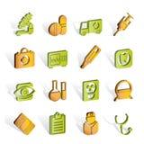 иконы стационара здоровья внимательности медицинские Стоковое Изображение