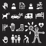 Иконы страхсбора установили иллюстрация вектора