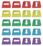 иконы стрелок цветастые Стоковые Фотографии RF