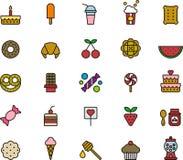 иконы сладостные Стоковое Изображение RF