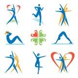 _icons образа жизни Fitness_healthy_ Стоковое Изображение