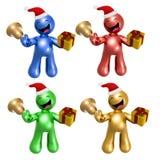 Иконы с Рождеством Христовым с шлемом и подарком santa иллюстрация вектора