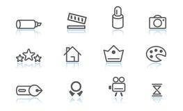иконы творческих способностей Стоковые Изображения RF