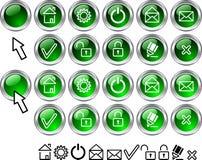 иконы установили сеть иллюстрация вектора