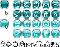 иконы установили сеть Стоковое Фото