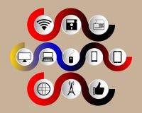 иконы установили технологию Стоковые Изображения RF