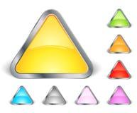 иконы установили треугольник Стоковое фото RF