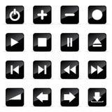 иконы установили veb Стоковая Фотография