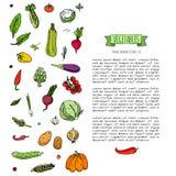 иконы установили овощи Стоковое Изображение