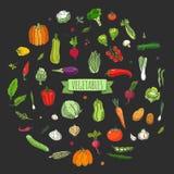 иконы установили овощи Стоковые Фотографии RF