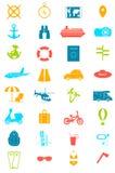 иконы установили перемещение Лето Стоковые Фото