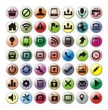 иконы установили сеть Стоковое фото RF