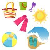 иконы установленные каникула иллюстрация штока
