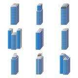 Иконы установленных зданий города Стоковые Фото