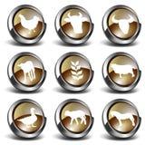 иконы фермы 3d Стоковые Изображения RF