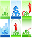 иконы финансов дела Стоковое фото RF
