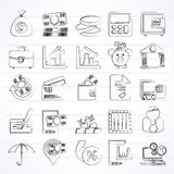 иконы финансов дела банка Стоковая Фотография RF