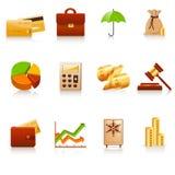 иконы финансов Стоковые Фото