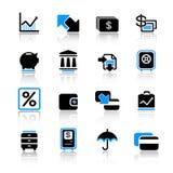 иконы финансов Стоковое Изображение