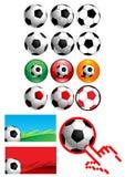 иконы футбола Иллюстрация вектора