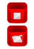 Иконы цвета вектора установленные. Красная икона Стоковое Изображение