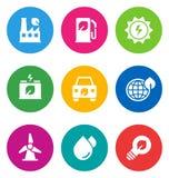Иконы цвета относящие к окружающей среде Стоковое Изображение