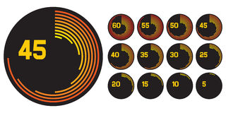 Иконы часов Стоковое Изображение