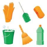 иконы чистки Стоковое Фото