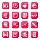 Иконы школы и образования Стоковое Фото