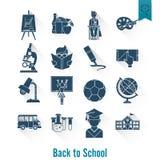 Иконы школы и образования иллюстрация штока