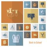 Иконы школы и образования Стоковые Фото