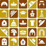 Иконы шлемов Стоковое Фото