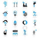 иконы экологичности принципиальной схемы Стоковые Фотографии RF