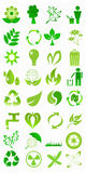 иконы экологичности Стоковое Изображение RF