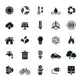 Иконы экологичности и окружающей среды Стоковые Фотографии RF