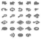 иконы экстра titanium Стоковые Фотографии RF