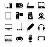иконы электроники Стоковое фото RF