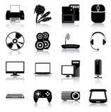иконы электроники Стоковые Фотографии RF