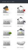 иконы электронной почты Стоковые Изображения