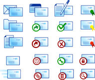 иконы электронной почты иллюстрация вектора