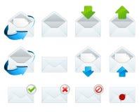 иконы электронной почты Стоковое фото RF