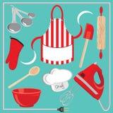 иконы элементов выпечки Стоковая Фотография RF