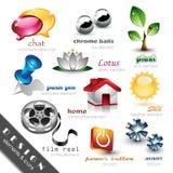 иконы элементов конструкции Стоковое Изображение RF