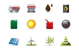 иконы энергии Стоковое Изображение