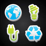 Иконы энергии Eco Стоковые Изображения