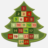иконы элементов рождества шаржа календара пришествия приурочивают различное Стоковое Изображение RF